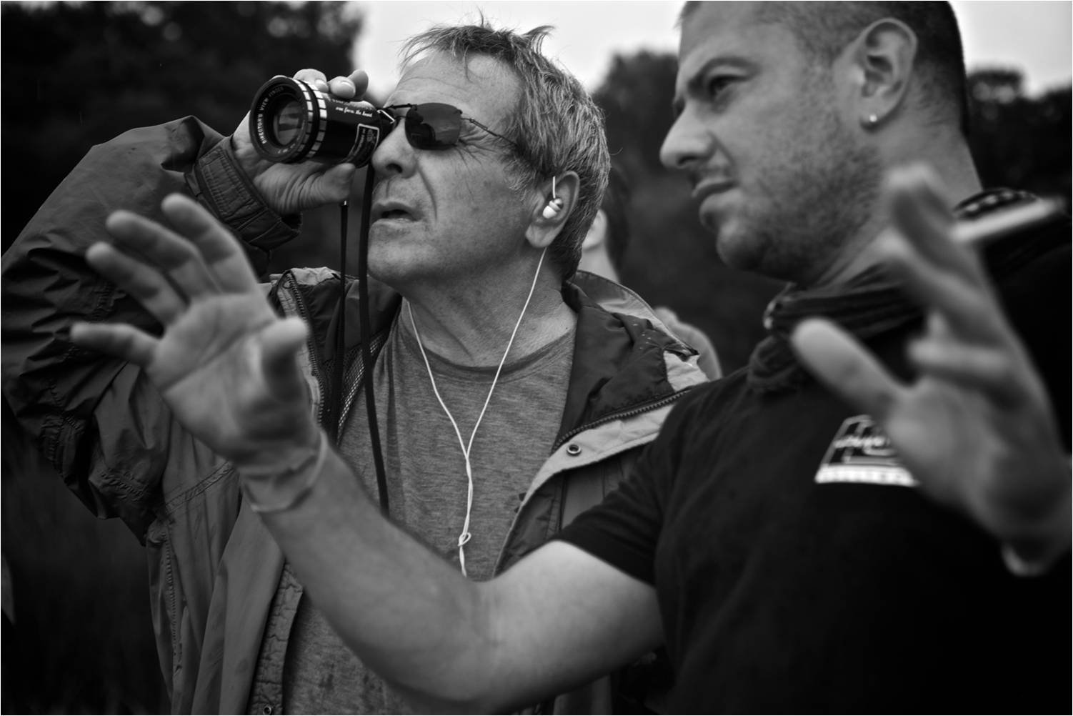 Director David Anspaugh and cinematographer Mihai Malaimare Jr. survey the beautiful scenery of Charleston, SC, in search of that perfect shot.