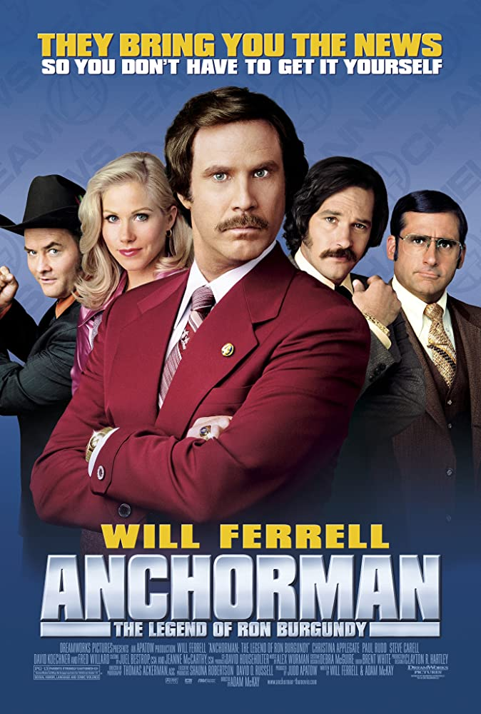 Anchorman: The Legend of Ron Burgundy 2004 Hindi Dual Audio 720p UNRATED BluRay ESubs 700MB Download