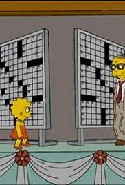 Homer and Lisa Exchange Cross Words Poster