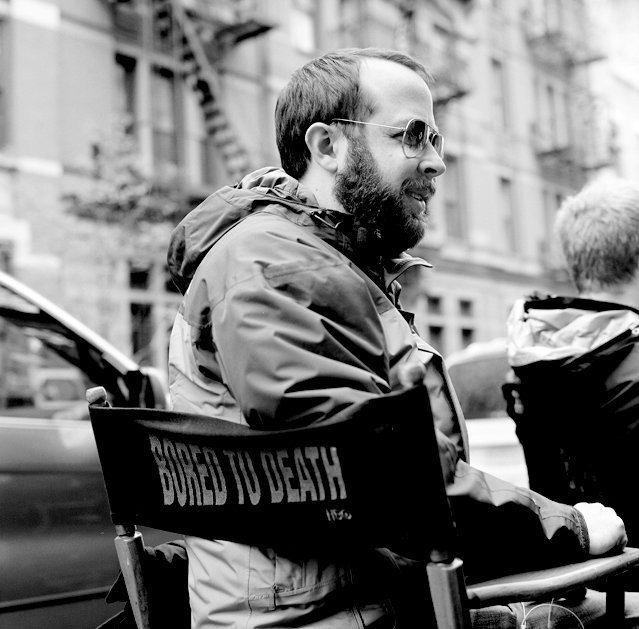 Martin Gero on set in New York for Bored to Death