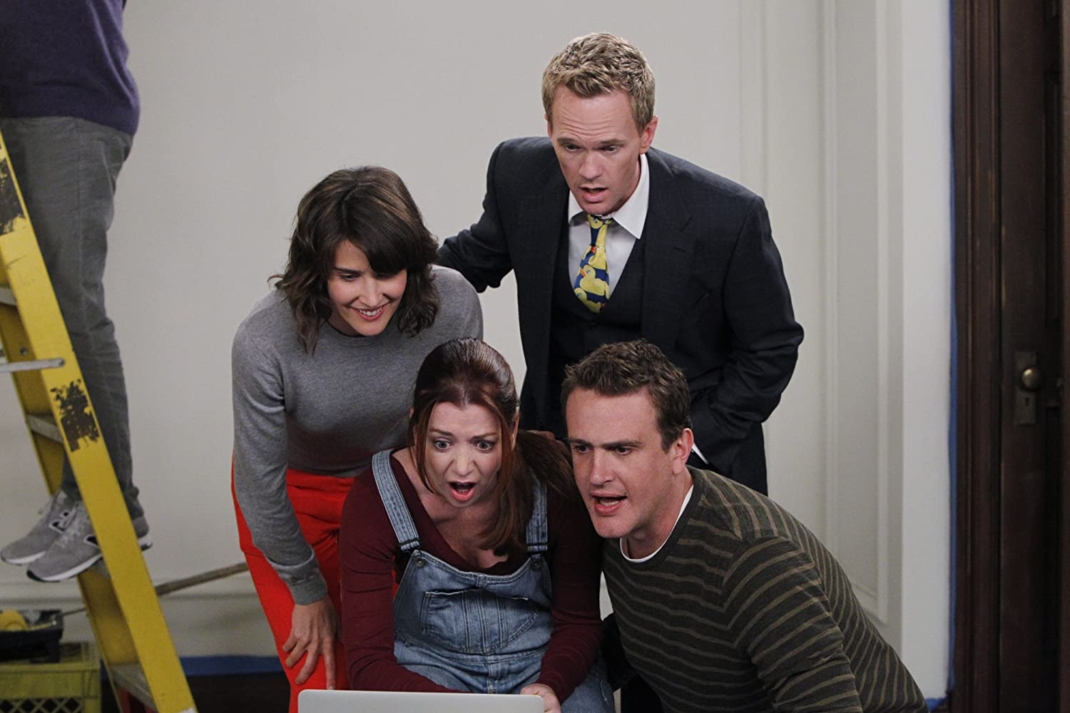 Neil Patrick Harris, Alyson Hannigan, Jason Segel, and Cobie Smulders in How I Met Your Mother (2005)