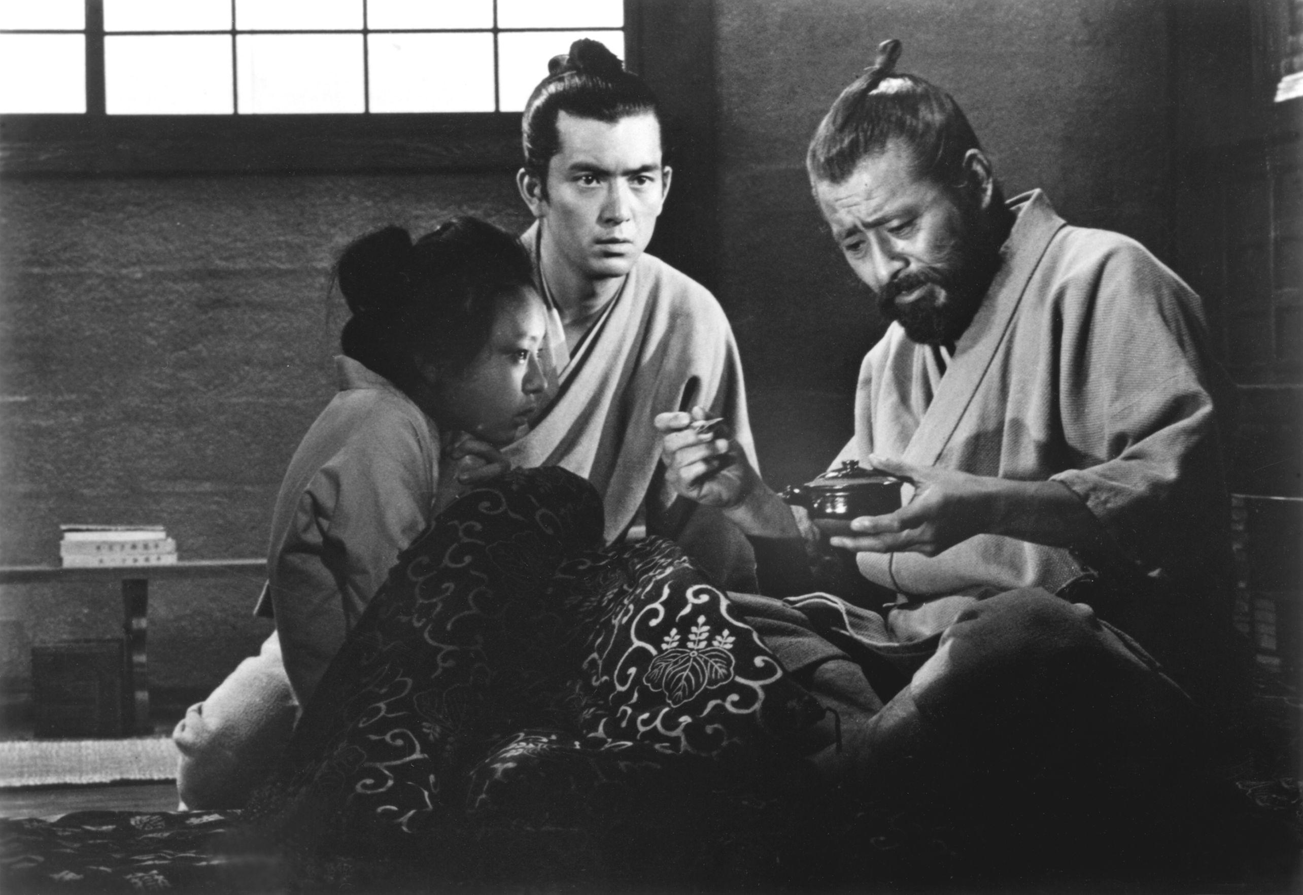 Toshirô Mifune, Yûzô Kayama, and Miyoko Nakamura in Akahige (1965)
