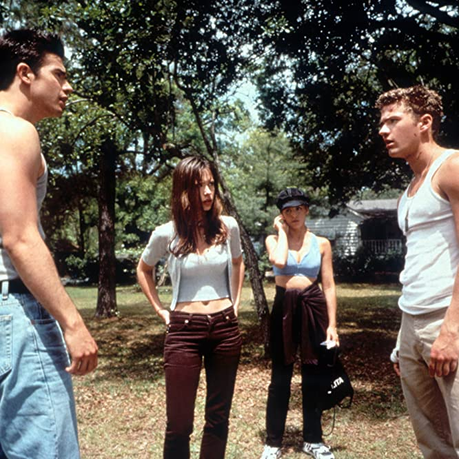 Ryan Phillippe, Sarah Michelle Gellar, Jennifer Love Hewitt, and Freddie Prinze Jr. in I Know What You Did Last Summer (1997)