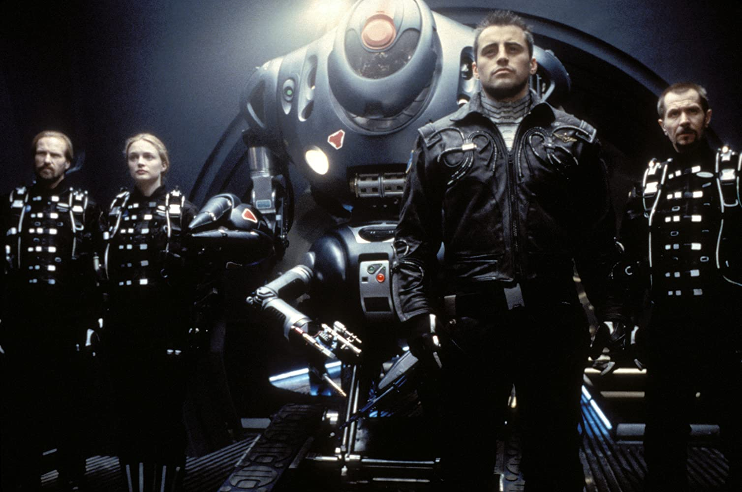 Gary Oldman, William Hurt, Heather Graham, and Matt LeBlanc in Lost in Space (1998)
