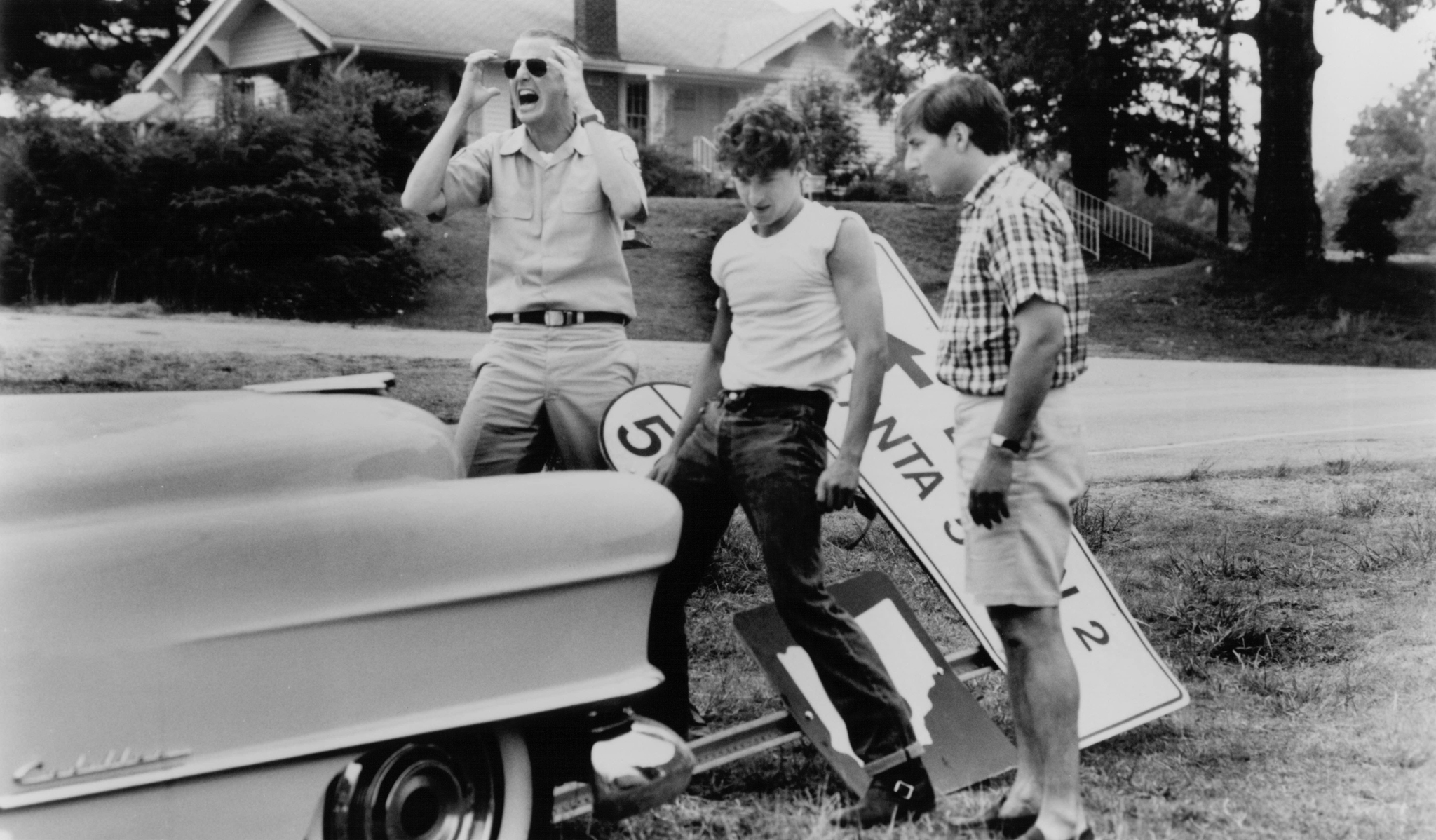 Patrick Dempsey, Arye Gross, and Daniel Stern in Coupe de Ville (1990)