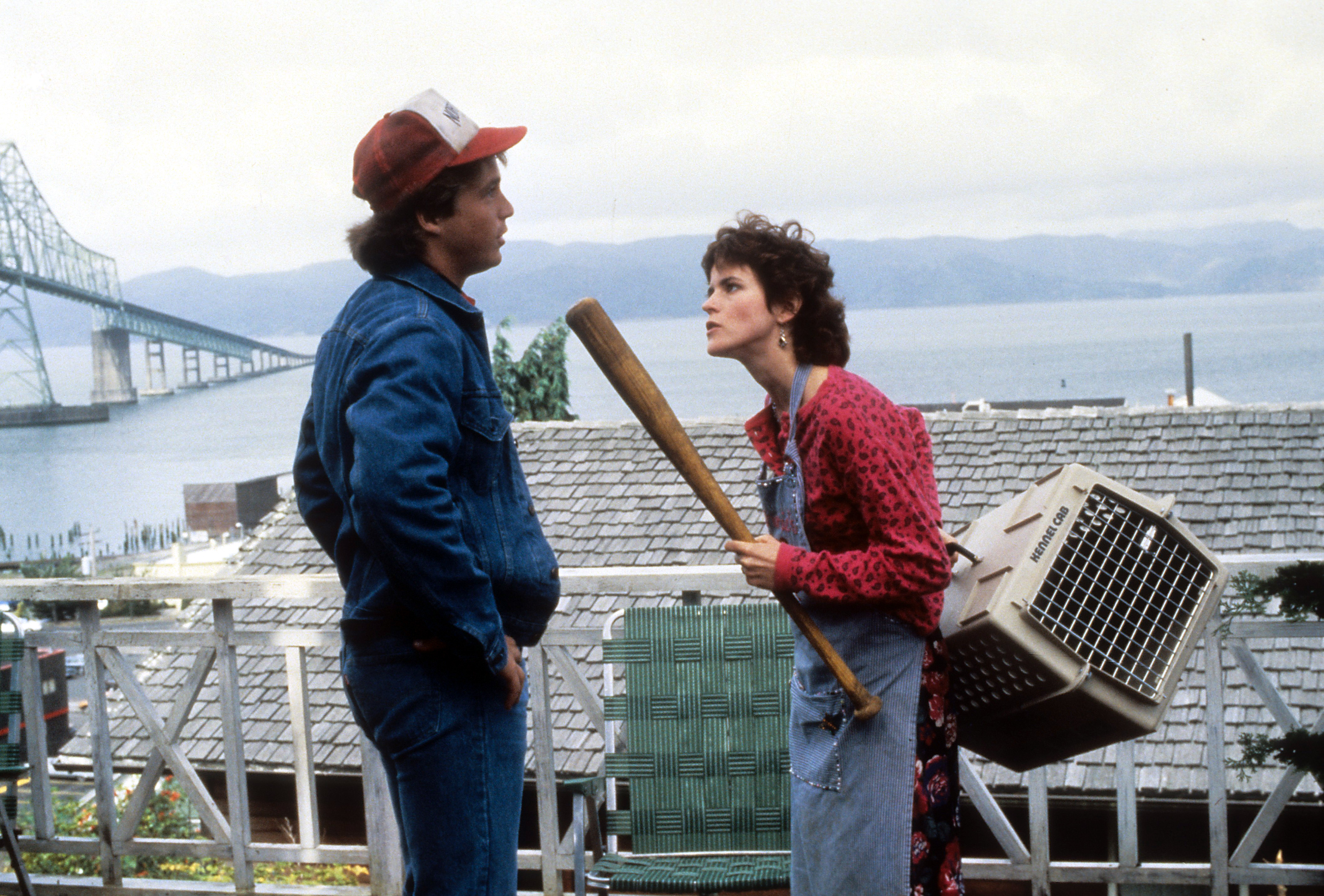 Ally Sheedy and Brian McNamara in Short Circuit (1986)