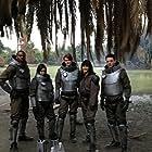 Kelly Hu, Jennifer Marshall, Anthony Marks, Laura Alexandra Ramos, and Nicholas Alexander in Age of Tomorrow (2014)