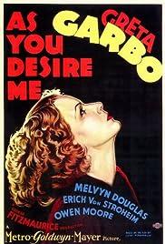 As You Desire Me (1932) starring Greta Garbo on DVD on DVD