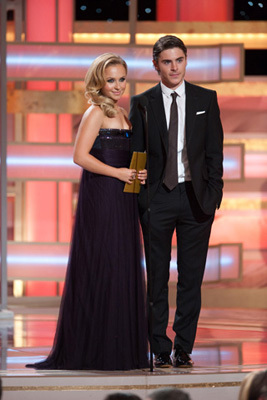 """The Golden Globe Awards - 66th Annual"" (Telecast) Hayden Panettiere, Zac Efron"