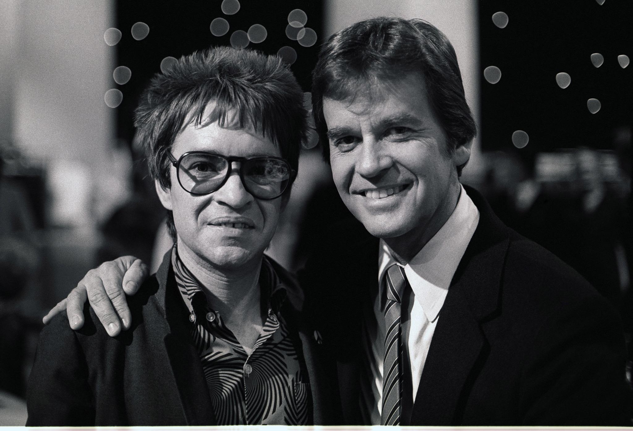 Rodney Bingenheimer and Dick Clark
