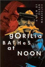 Gorilla Bathes at Noon Poster