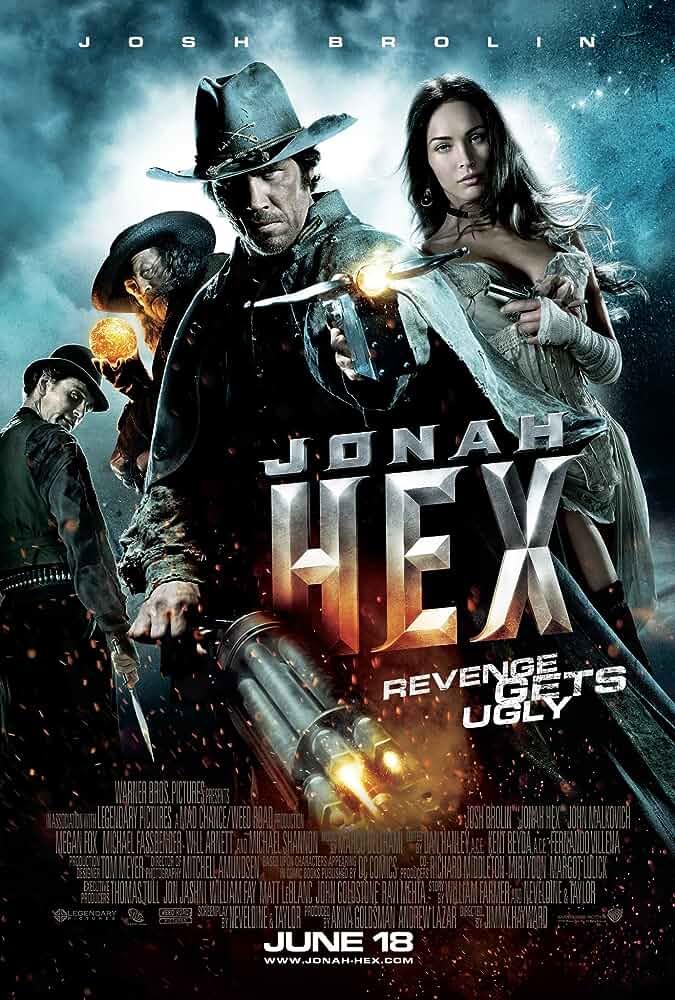 John Malkovich, Josh Brolin, Michael Fassbender, and Megan Fox in Jonah Hex (2010)