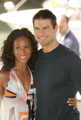 Tom Cruise and Jada Pinkett Smith at an event for Collateral (2004)