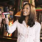 Mo Simmons (Angela Bassett, pictured), sports correspondent and one time girlfriend of Ross, covers his comeback story for ESPN.