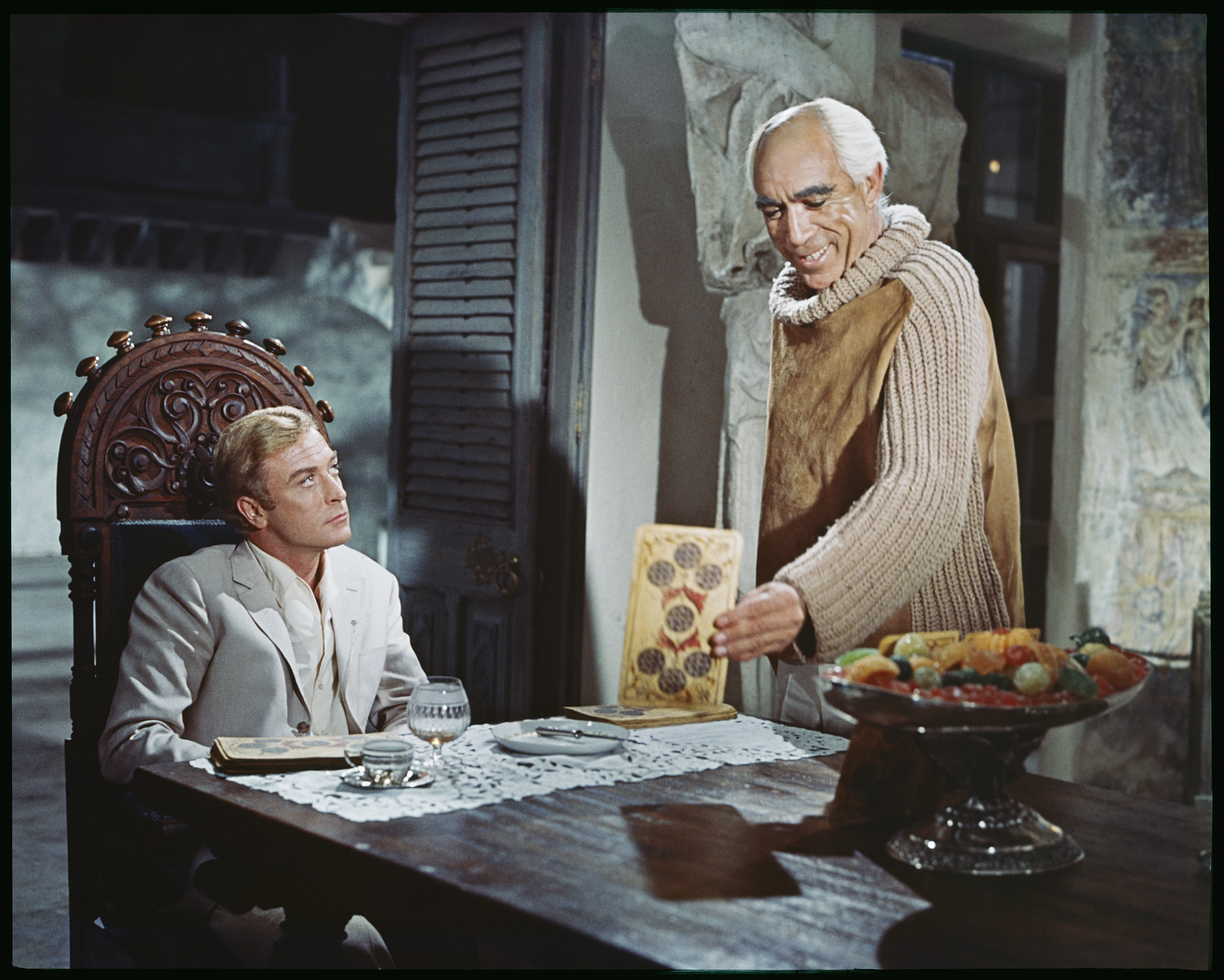 Anthony Quinn and Michael Caine in The Magus (1968)