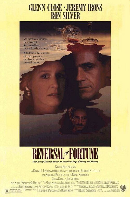 Glenn Close, Jeremy Irons, and Ron Silver in Reversal of Fortune (1990)