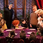 Adam Sandler, Megan Mullally, Kevin James, Nick Offerman, Molly Shannon, Selena Gomez, Andy Samberg, and Asher Blinkoff in Hotel Transylvania 2 (2015)