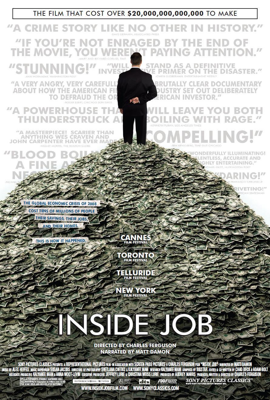 Resultado de imagem para inside job poster