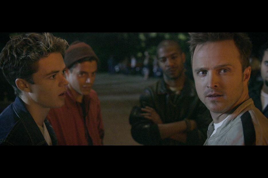 Aaron Paul, Harrison Gilbertson, Rami Malek, and Kid Cudi in Need for Speed (2014)