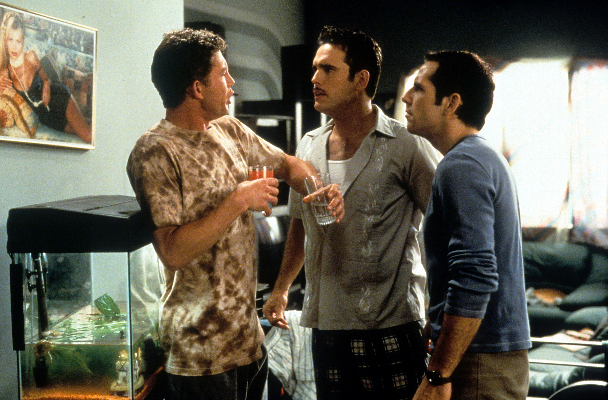 Matt Dillon, Ben Stiller, and Lee Evans in There's Something About Mary (1998)