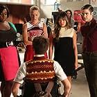 Darren Criss, Kevin McHale, Jenna Ushkowitz, Heather Morris, Samuel Larsen, and Alex Newell in Glee (2009)