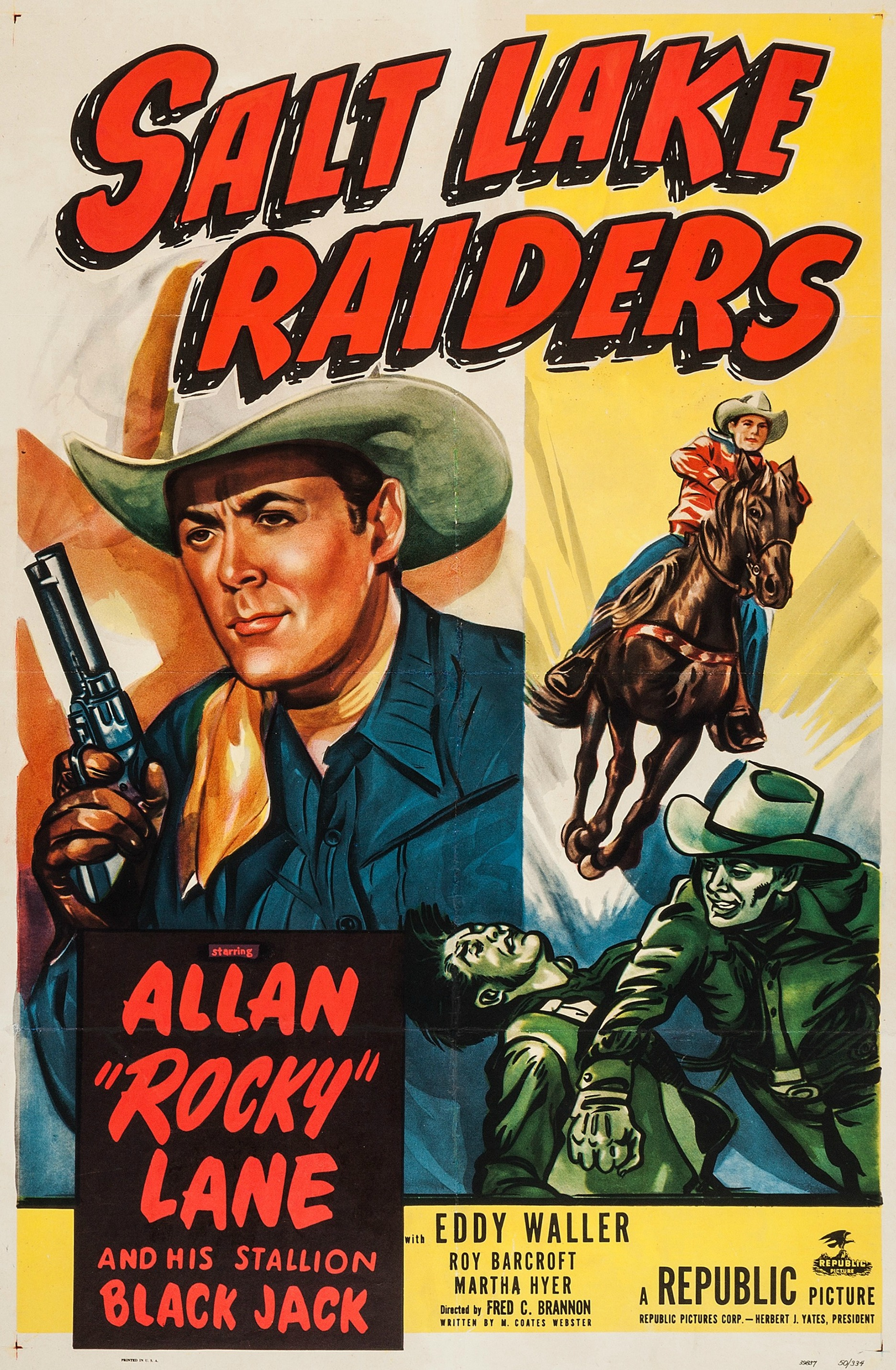 Allan Lane and Black Jack in Salt Lake Raiders (1950)