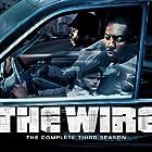 Idris Elba, Wood Harris, Sonja Sohn, and Dominic West in The Wire (2002)