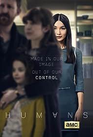 Tom Goodman-Hill, Katherine Parkinson, Gemma Chan, and Pixie Davies in Humans (2015)