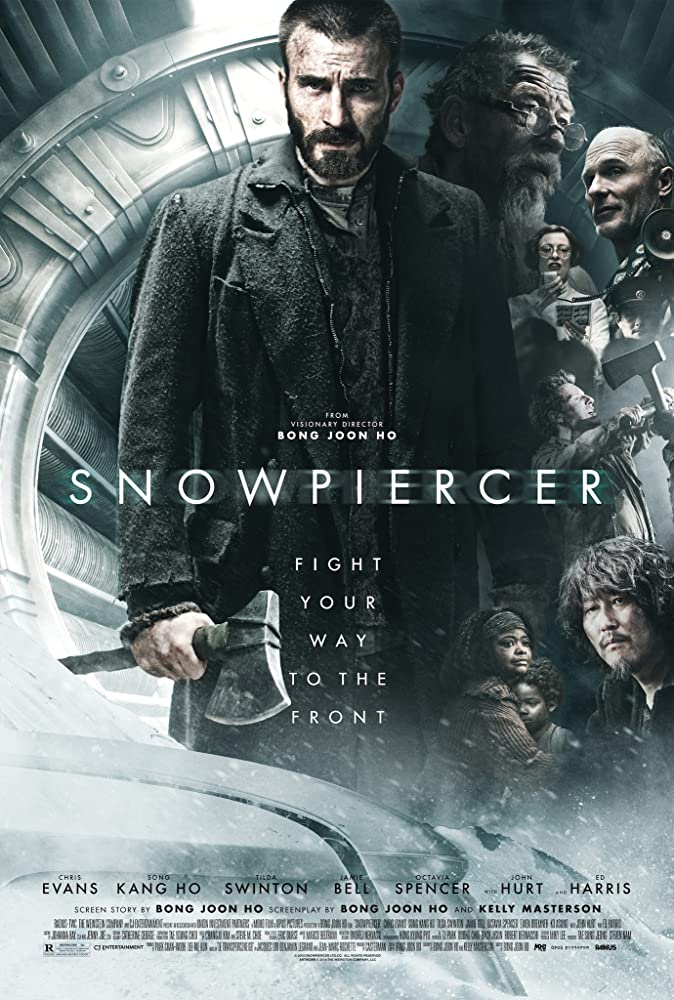 Ed Harris, John Hurt, Jamie Bell, Chris Evans, Kang-ho Song, Octavia Spencer, and Tilda Swinton in Snowpiercer (2013)