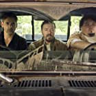Eric Bana, Ricky Gervais, and Pedro Miguel Arce in Special Correspondents (2016)