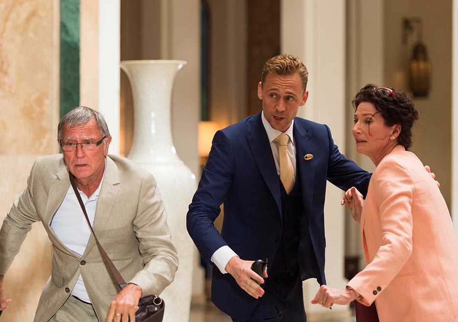 Tom Hiddleston and Holly Hayes in The Night Manager
