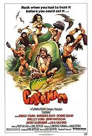 Dennis Quaid, Barbara Bach, Shelley Long, John Matuszak, and Ringo Starr in Caveman (1981)
