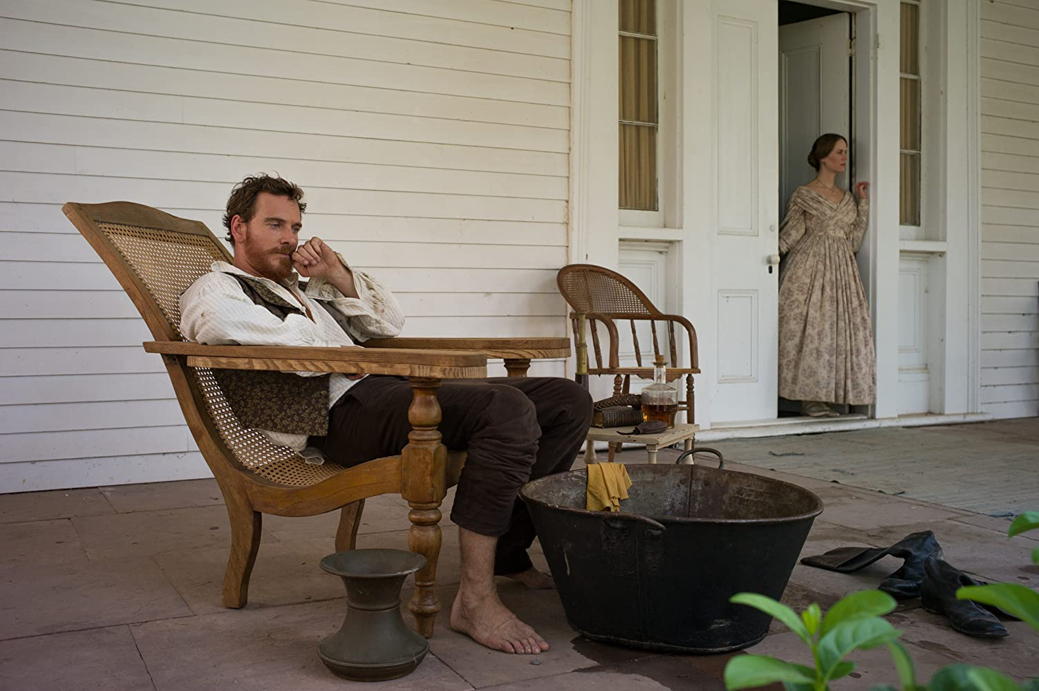 Sarah Paulson and Michael Fassbender in 12 Years a Slave (2013)