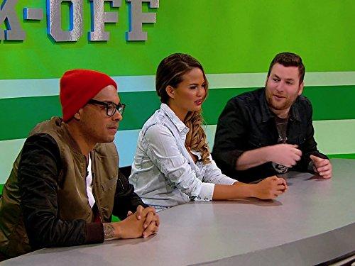 Yassir Lester, Chrissy Teigen, and Jason Quinn in Snack Off (2014)