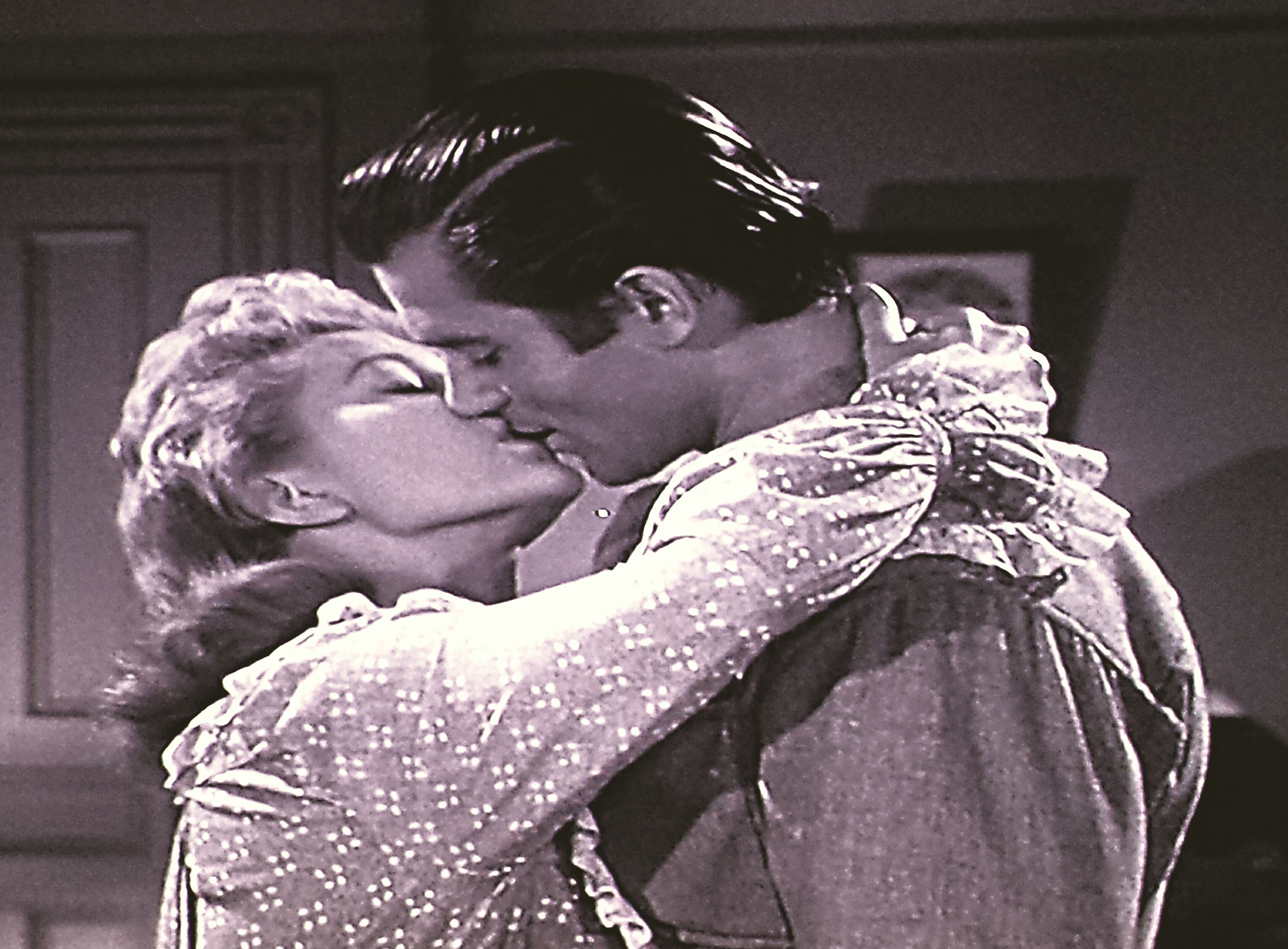 Peggie Castle and Clint Walker in Cheyenne (1955)