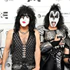 Gene Simmons and Paul Stanley at an event for Biography: KISStory (2021)