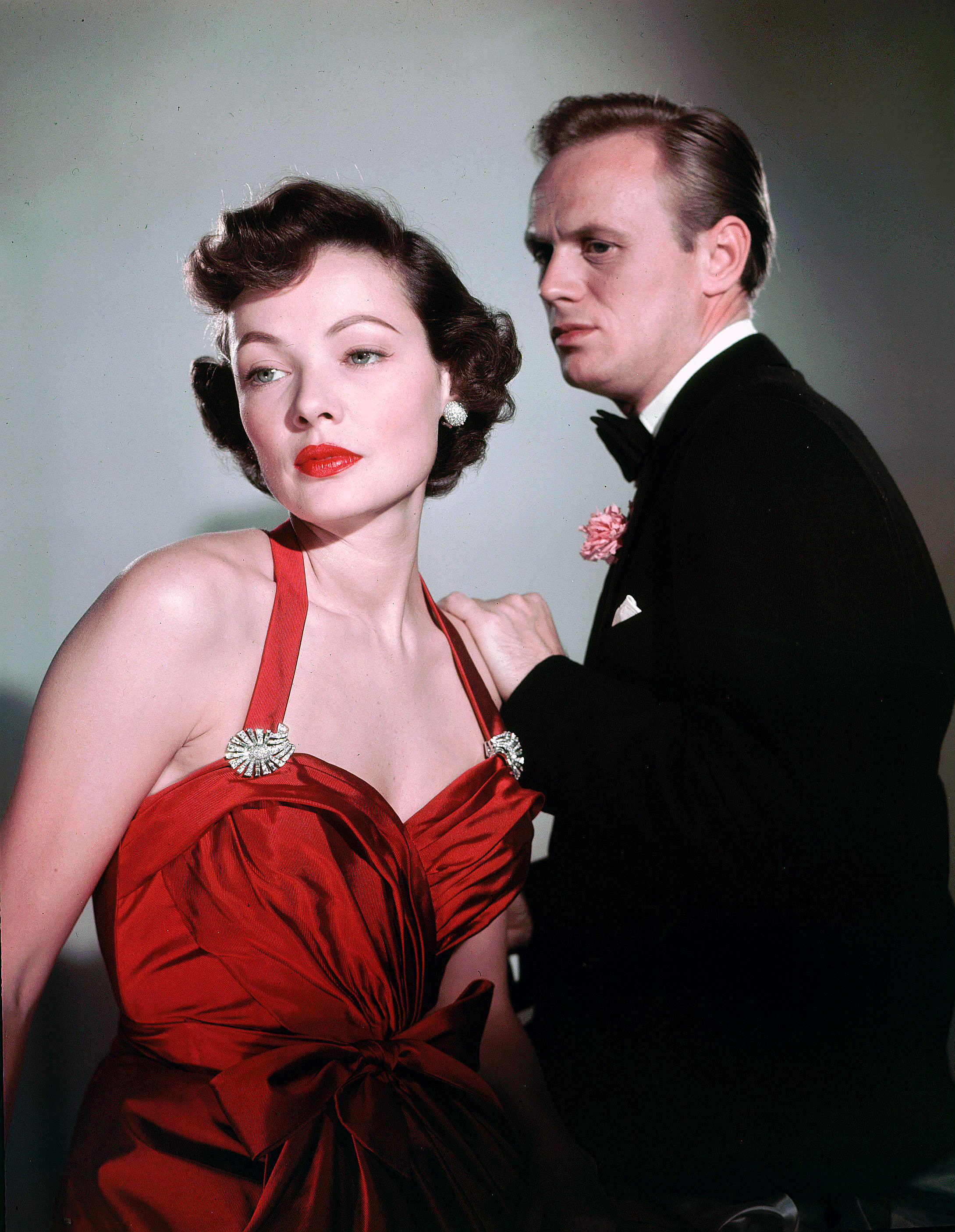 Gene Tierney and Richard Widmark in Night and the City (1950)