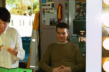 "Ash Christian on the set of the Showtime Orignal Series ""Going to California""."