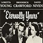 David Niven, Broderick Crawford, and Loretta Young in Eternally Yours (1939)