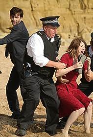 David Tennant, Steve Bennett, Olivia Colman, and Jodie Whittaker in Broadchurch (2013)