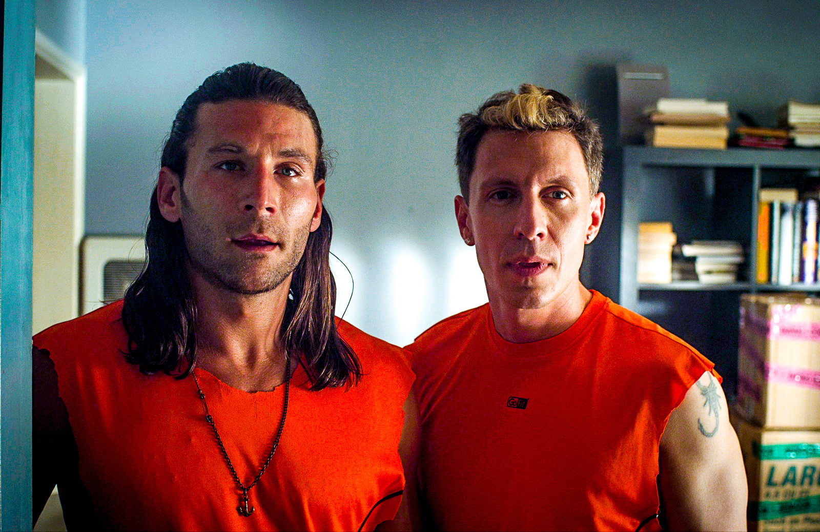 Ian Michaels and Zach McGowan in Friended to Death (2014)
