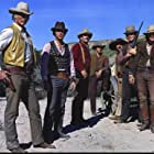 Lee Van Cleef, Pedro Armendáriz Jr., Luke Askew, Michael Callan, Ed Lauter, William Lucking, and James Sikking in The Magnificent Seven Ride! (1972)