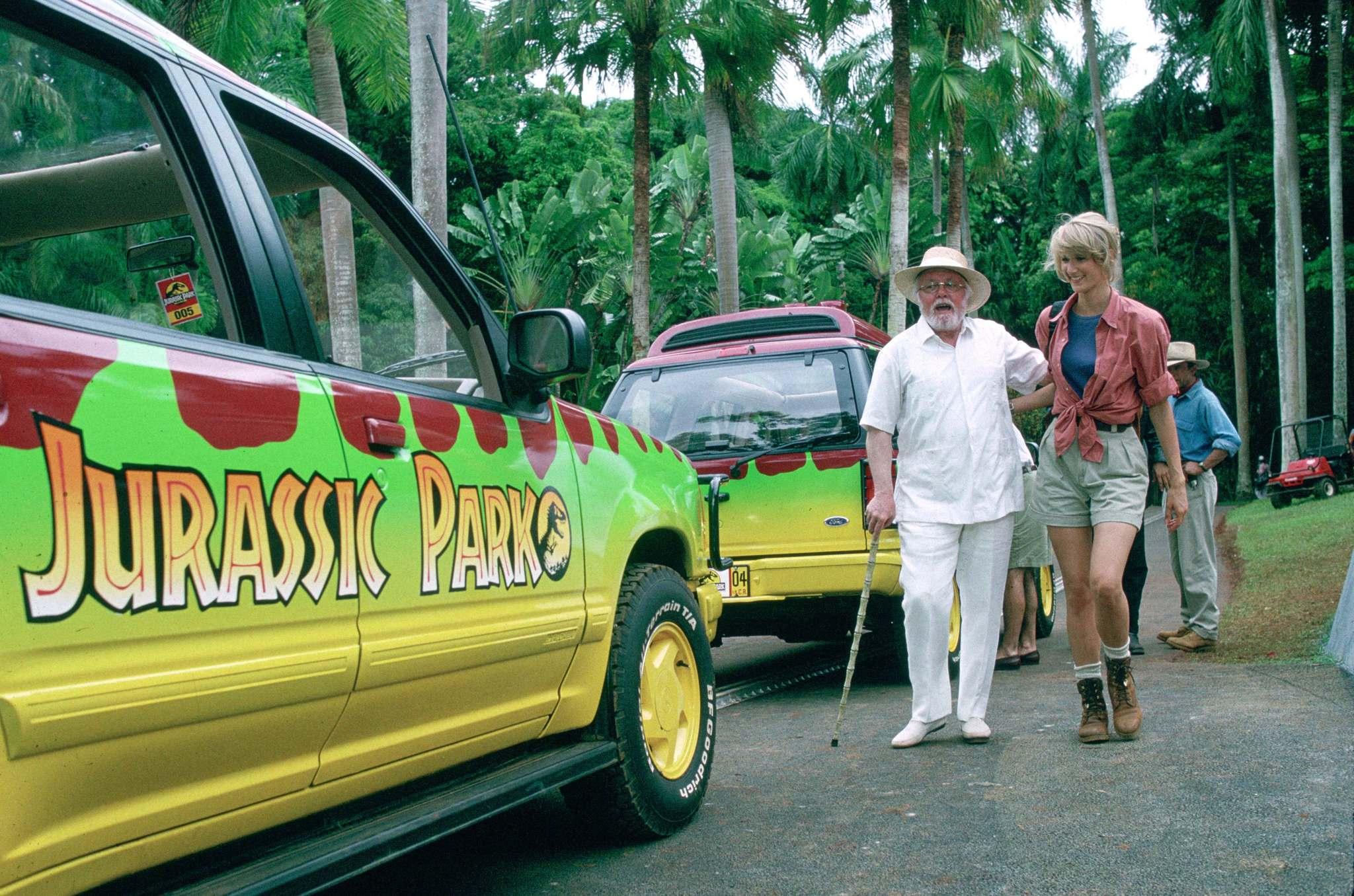 Richard Attenborough and Laura Dern in Jurassic Park (1993)