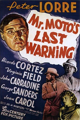 Peter Lorre, John Carradine, Ricardo Cortez, and Virginia Field in Mr. Moto's Last Warning (1939)
