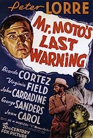 Peter Lorre, John Carradine, Ricardo Cortez, and Virginia Field in Mr. Moto's Last Warning (1939)