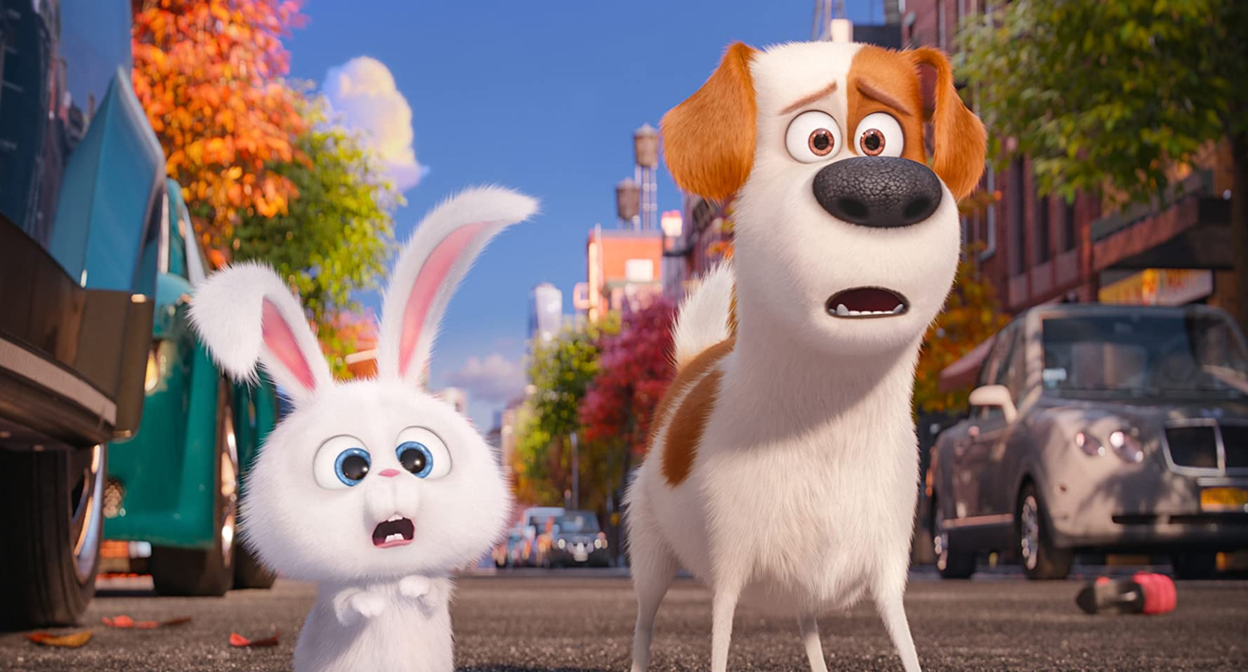 Louis C.K. and Kevin Hart in The Secret Life of Pets (2016)