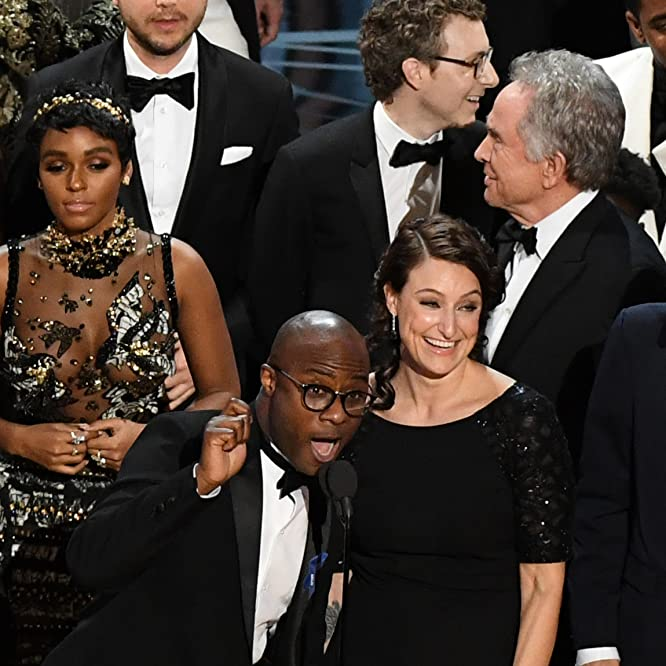 Warren Beatty, Barry Jenkins, Adele Romanski, Nicholas Britell, and Janelle Monáe at an event for Moonlight (2016)