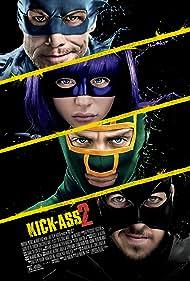 Jim Carrey, Aaron Taylor-Johnson, Chloë Grace Moretz, and Christopher Mintz-Plasse in Kick-Ass 2 (2013)