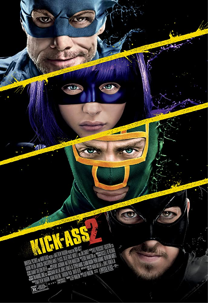 Jim Carrey, Aaron Taylor-Johnson, Chloë Grace Moretz, and Christopher Mintz-Plasse in Kick-Ass 2 (2013)