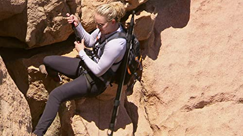 Running Wild With Bear Grylls: Lindsey Rappels Down The Rock
